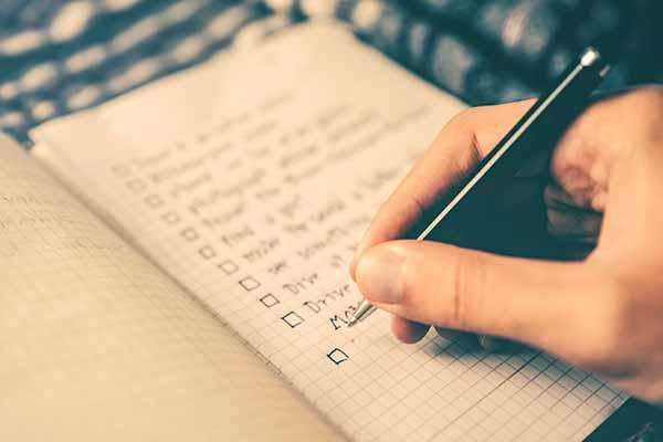 Erstellung einer Checkliste