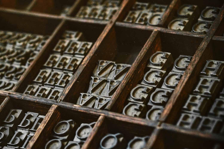 Lettern für den Buchdruck nach Gutenberg