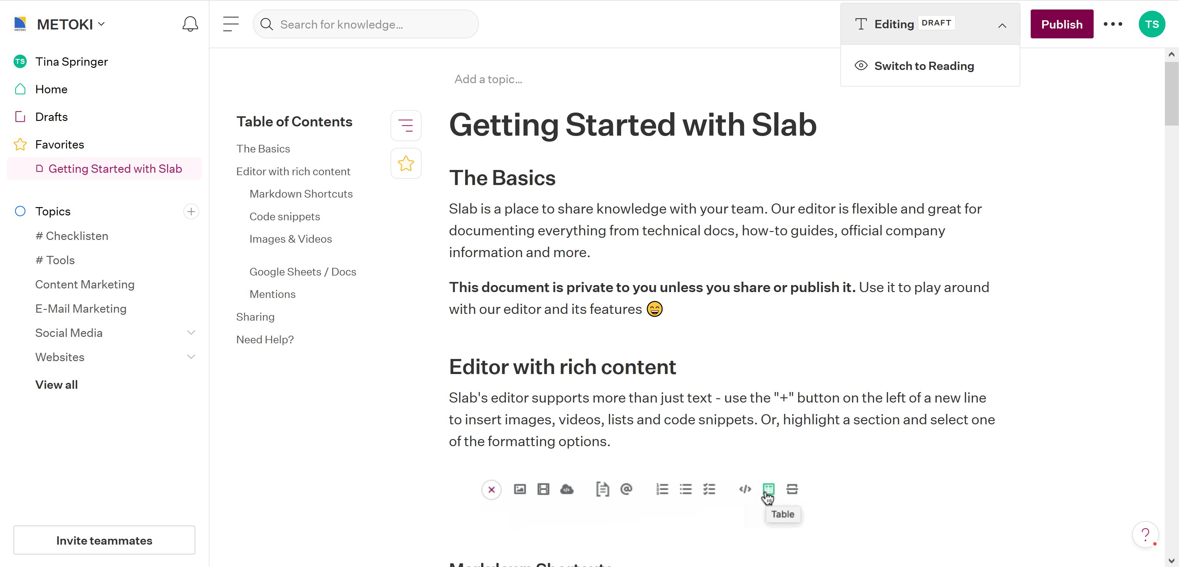 Slab Editor