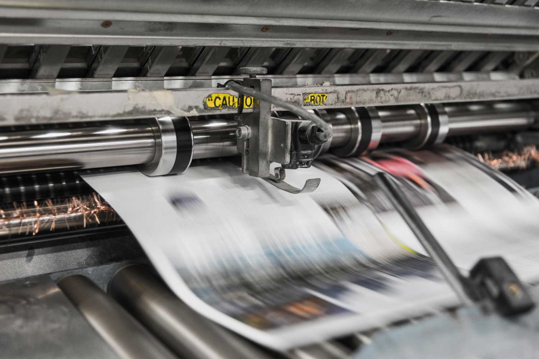 Moderne Druckerpresse