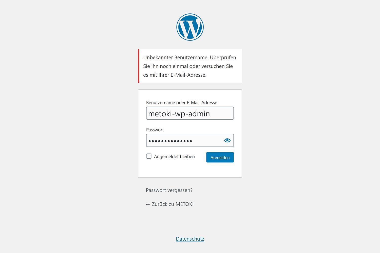 WordPress Login-Formular
